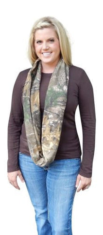 Realtree Womens Thick Jersey Infinity Scarf, OSFM
