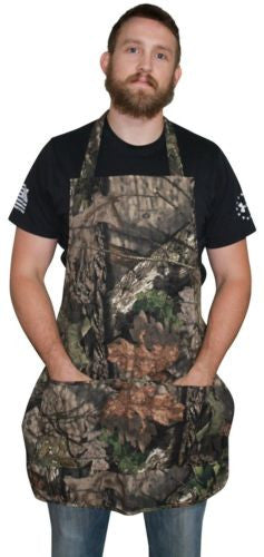 Realtree Mossy Oak Apron, Unisex S-2XL Camo Apron (Mossy Oak Break-Up COUNTRY)