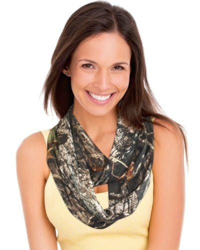 Mossy Oak Camo Infinity Scarf + Scrunchie, Made in the USA