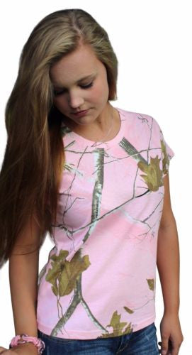 Realtree Pink Tshirt 2X Womens Plus Size Camo Shirt Tee Top Cotton Short Sleeve