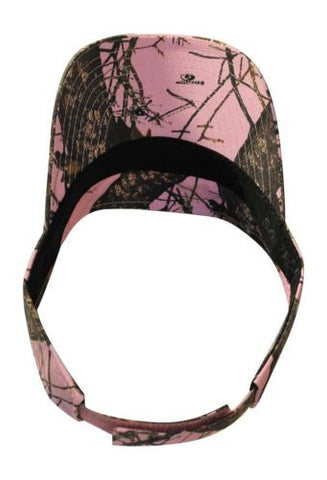 Mossy Oak Pink Visor Cap with Wicking Band (MO Break Up Pink)