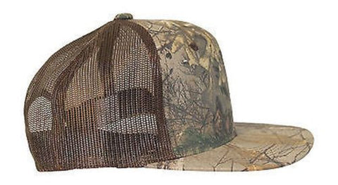 Realtree Camo Trucker Cap Hat CF2 Flat or Curved Visor Mesh Back