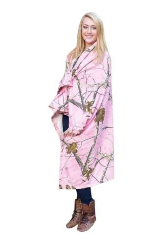 Realtree Pink Throw Women's Pink Camo Jersey Fleece Lightweight Throw