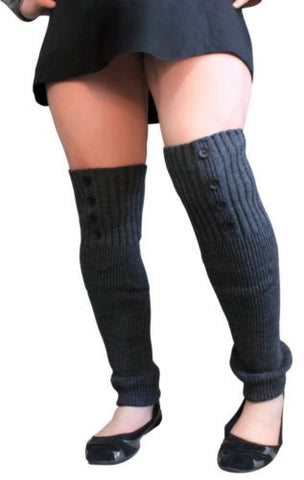 Plus Size Arm | Leg Warmers Womens Acrylic Knit Sleeves 20""