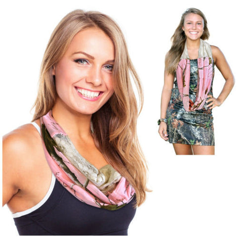 Realtree Pink Infinity Scarf Womens Real Tree Girl Chloe Pnk Camo Lace Eternity