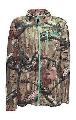 Mossy Oak Fleece Jacket Womens Microfleece Zip Up