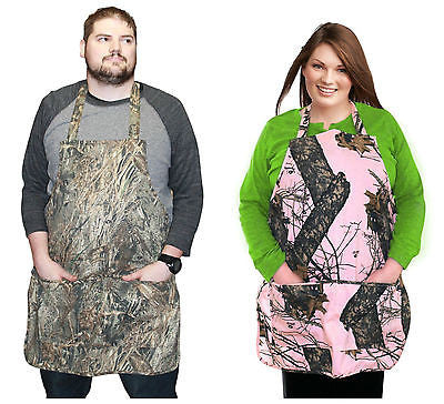 Mossy Oak Apron Camo Realtree Duck Blind Break Up Pink Hunter Kitchen Twill Aprn