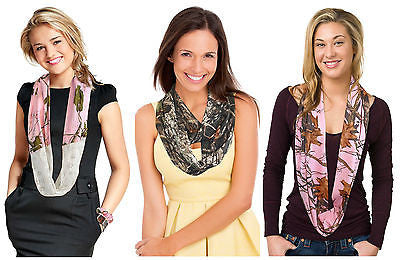 Infinity Scarf Camo Realtree Girl Pink Chloe Mossy Oak Pink, Mossy Oak Break Up, Silky Stretch