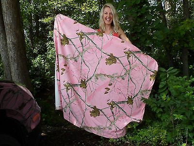 Realtree Pink Camo Throw Blanket Sweatshirt-Feel Jersey Fleece Stadium Wrap Gift