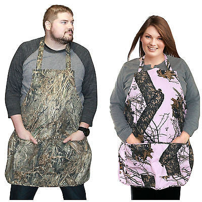 Mossy Oak Grill Apron Realtree Real Tree Max Pink Vintage Style Apron Made in US