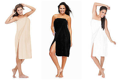 Luxury Spa Wrap Plus Size Women Ladies Misses S-6X Snaps~Beauty~Shower~Bath Wrap
