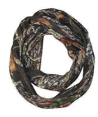 Mossy Oak Camo Infinity Scarf BU Pink Stretch Fashion Dress Loop Circle Scarf Made USA