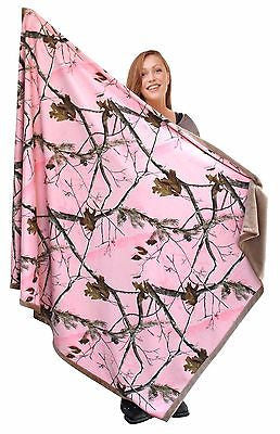 Realtree Pink Camo Throw Blanket Adult 56x70 Christmas Holiday Gift Country Girl