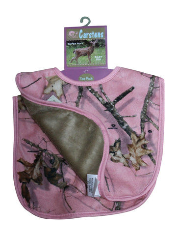 Mossy Oak Pink Baby Bibs 2-Pack Carstens Free Shipping!