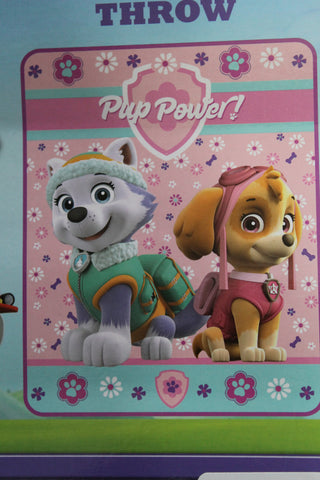 "Paw Patrol Fleece Throw Blanket~Skye & Everest~Nick Jr~Toddler Girls Child 40x50"" Soon Sold Out"