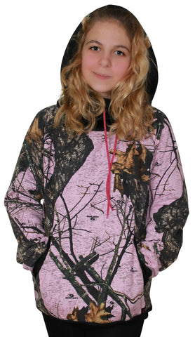 Mossy Oak Pink Camo Hoodie BURNOUT Break Up Pnk Varsity Style Camouflage Hooded Sweatshirt