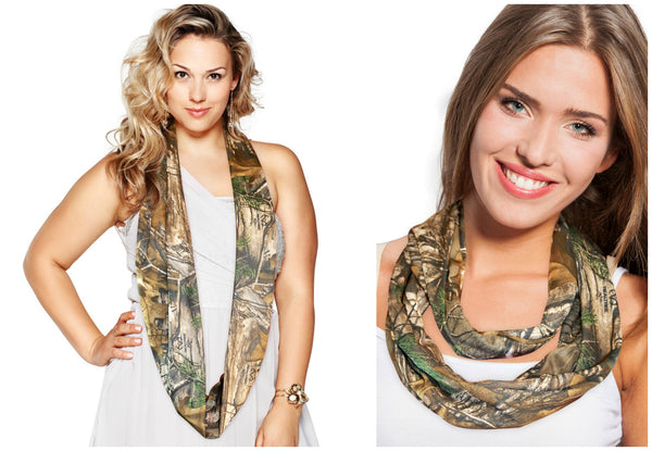 Realtree Infinity Scarf Camo Fashion Circle Loop Eternity Scarf Licensed Made USA Free Shipping