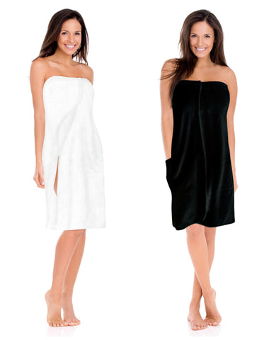 Black Spa Wrap Cover Up Womens S-6X Plus Size LUXURY Bath Robe Wrap XXL 1X 2X 3X 4X 5X 6X