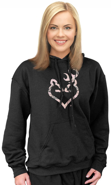 Pink Camo Hoodie Plus Size Camo For Women Browning Buckmark Buckheart Realtree Pink