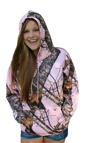 Browning Buckmark Keyring + Mossy Oak Pink Hoodie Performance Fleece Hooded Sweatshirt Top
