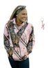 Mossy Oak Pink Hoodie Break Up Pnk Camo Sweat Jacket + Browning Buckmark Keyring