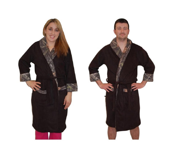 Mens Womens Camo Robe True Timber Accent Warm Fleece Bathrobe Unisex Sizing Free Shipping