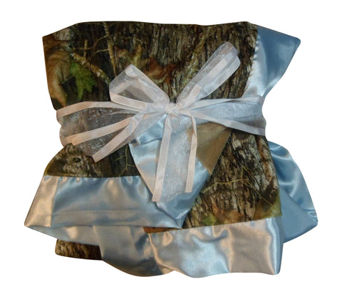 "Mossy Oak Blue Baby Blanket 34x34""  or Realtree Pink Camo Faux Shearling Microsuede Blanket"
