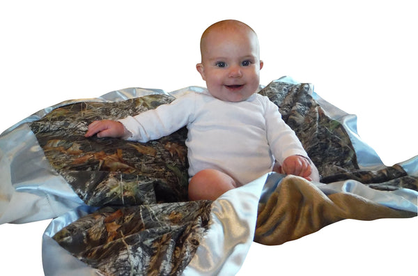 Realtree Baby Blanket Microsuede Throw Plush Minky Back 34x34