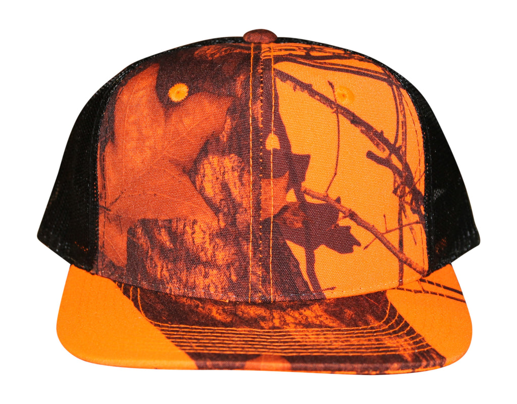 76db4e80947 Mossy oak blaze orange camo cap snapback mesh hat camo chique boutique  front jpg 1024x801 Orange