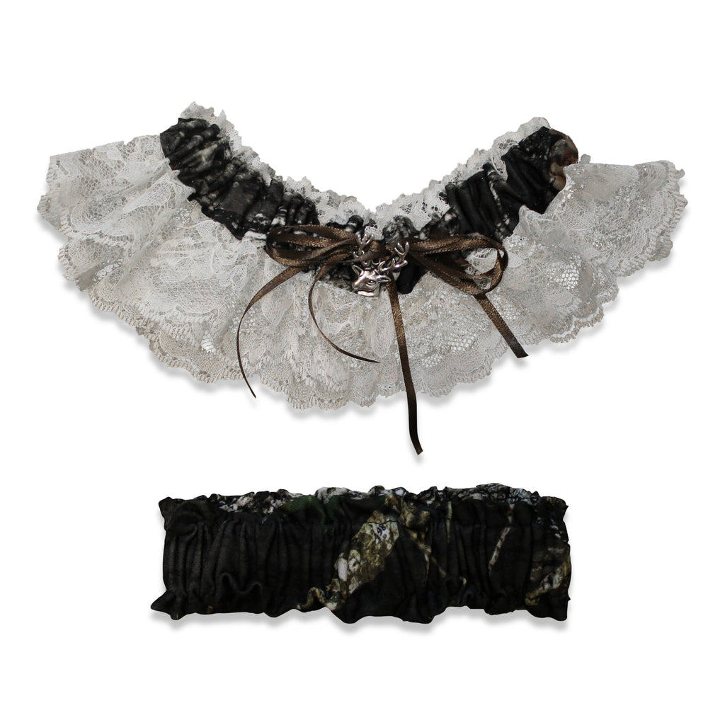 73741d3b8f7 Mossy Oak Womens Garter~Lace with Deer Charm~Licensed Made in USA ...