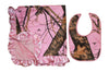 Pink Camo Baby Blanket & Bib MOSSY OAK PINK Country Girl Infant Gift Free Shipping SALE