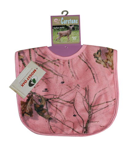Mossy Oak Pink Baby Bib Carstens Camo Infant-Toddler Size