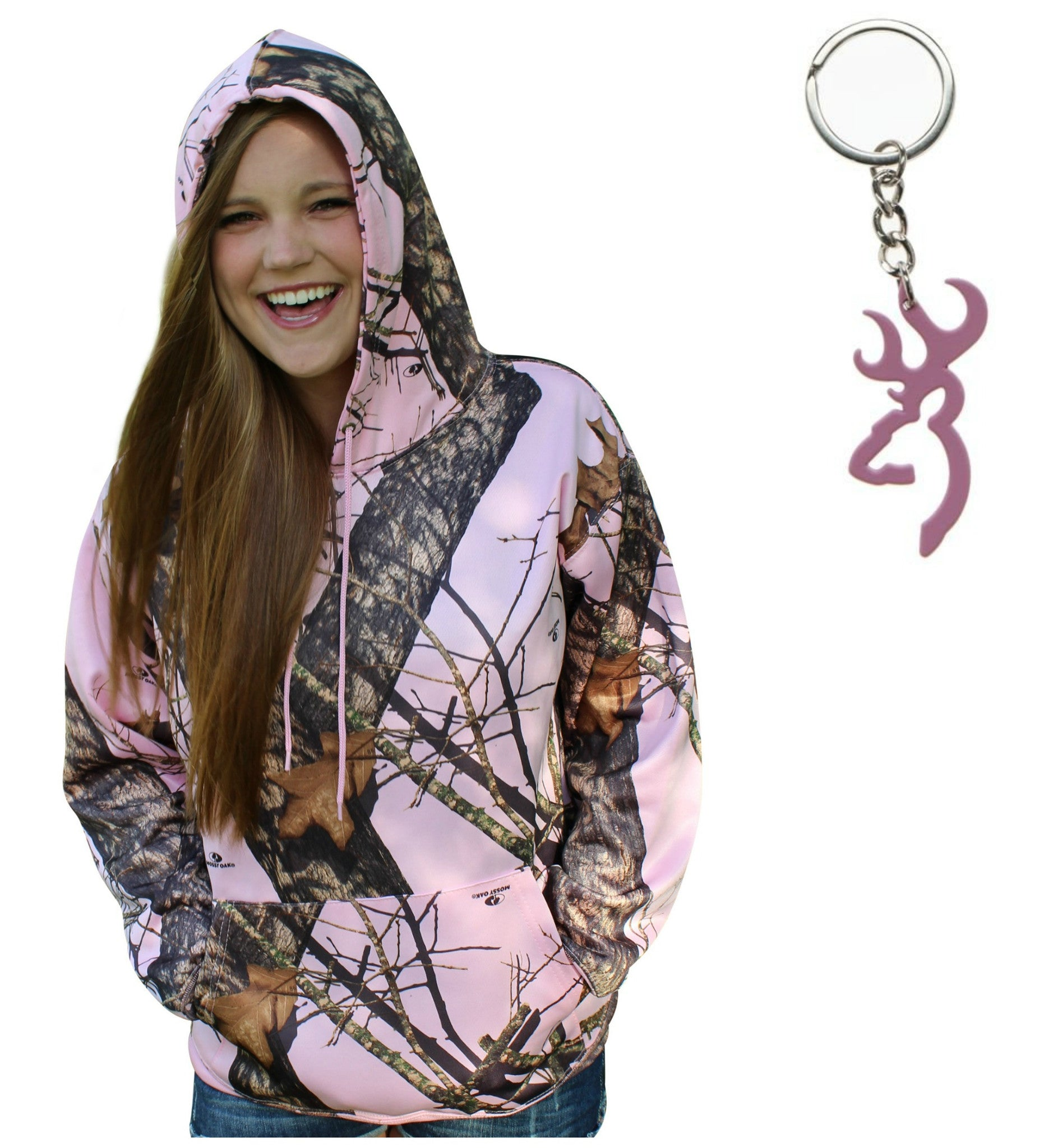 13df065ab9393 Mossy Oak Pink Hoodie Break Up Pnk Camo Sweat Jacket + Browning Buckma –  Camo Chique