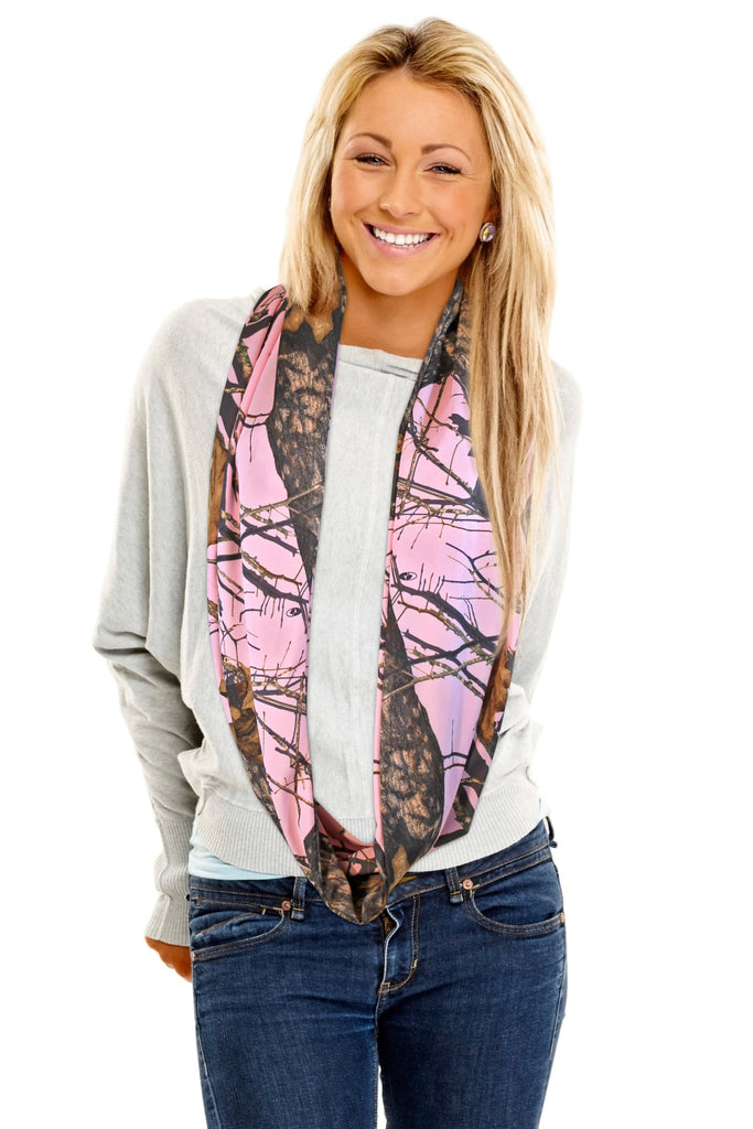 Mossy Oak Pink Infinity Scarf Camo Chique