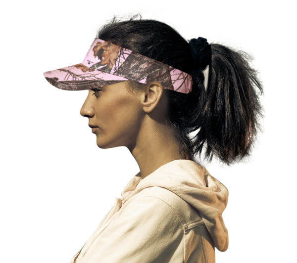 Mossy Oak Pink Camo Visor Cap Wicking Band (Camo Chique Pintrest)