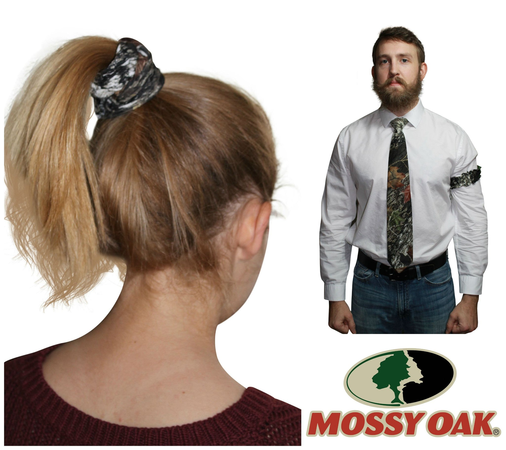 3a70e245b16 Mossy Oak Scrunchie or Mens Camo Arm Garter Officially Licensed   Made in  the USA