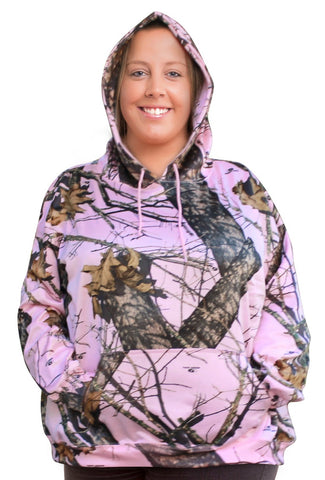 Mossy Oak Pink Hoodie 2X 3X Plus Size Pnk Camo Sweatshirt - Use Amazon Link Below
