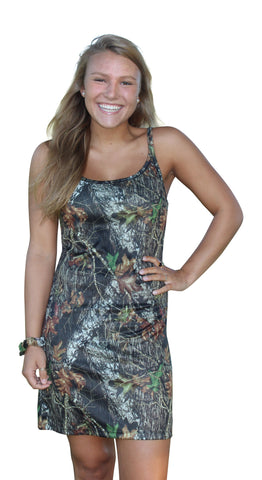 Mossy Oak Camo Dress Tank Gown Juniors XL Wilderness Dreams Loungewear Nightshirt