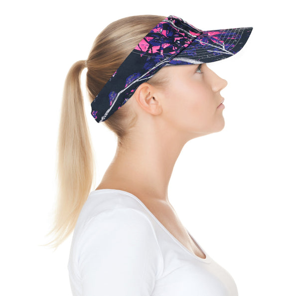 Muddy Girl Pink Camo Visor Cap with Inner Wicking Band Adjustable Vel-cro Back