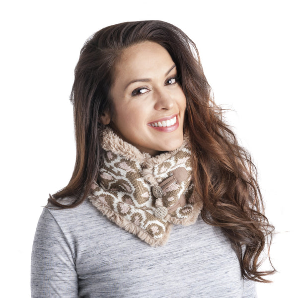 Muk Luks Women's Hollywood Leopard Neck Warmer