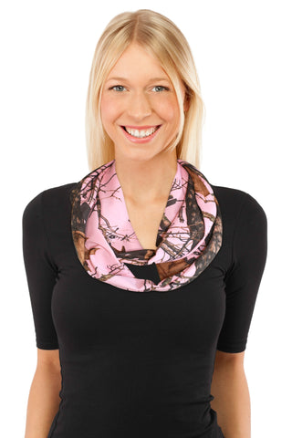 Camo Infinity Scarf Realtree Mossy Oak+Breast Cancer Awareness Wristband Pink Camo Chique Chic