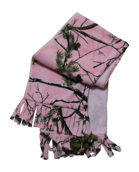 Realtree Pink Camo Fleece Scarf