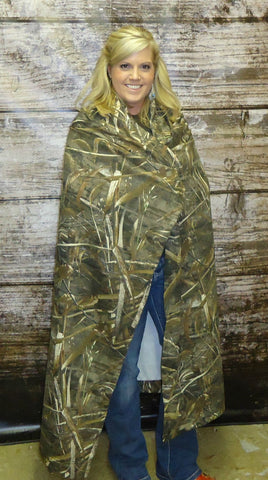 Realtree Max-5 Throw Blanket Jersey Fleece Sweatshirt-Fabric Made in USA