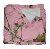Realtree Pink Jersey Fleece Throw Sweatshirt Fabric Stadium Lap Blanket Made USA
