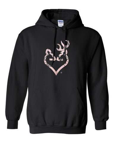 Browning Realtree Pink Camo Buckheart Hoodie Juniors Size 3XL
