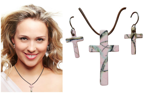 PInk Camo Jewelry Muddy Girl Necklace & Earring Set