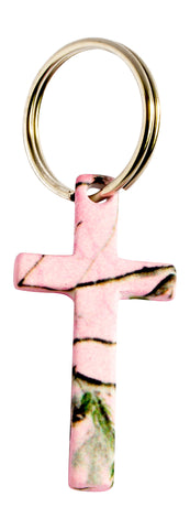 Realtree Pink Cross Jewelry KEY RING