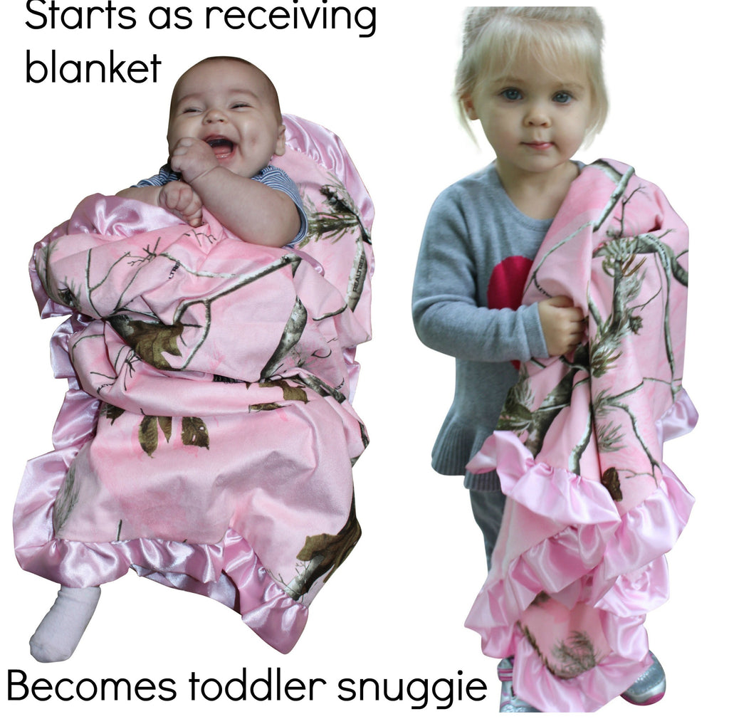 11aa330a562de Realtree Pink Baby Blanket by Carstens - New Baby Gift - Infant Girl Pink  Camo Blanket
