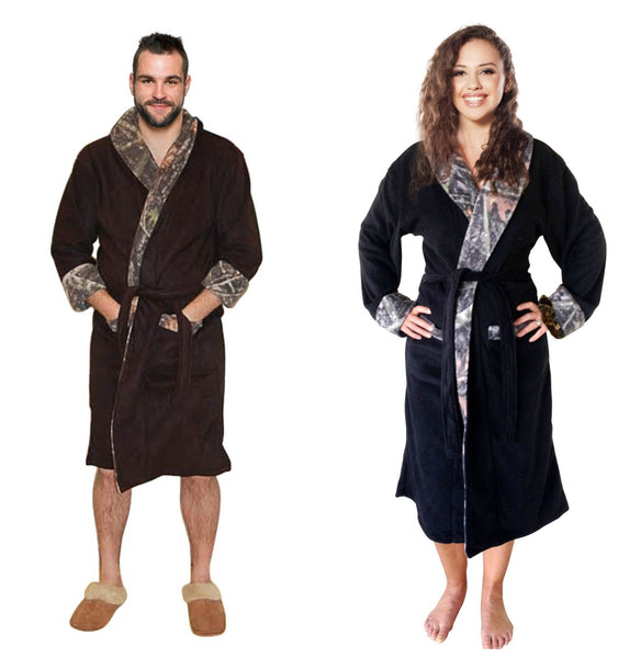 Camo Robe Bathrobe Fleece True Timber Mens Womens Unisex Adult Camouflage Gift Robe
