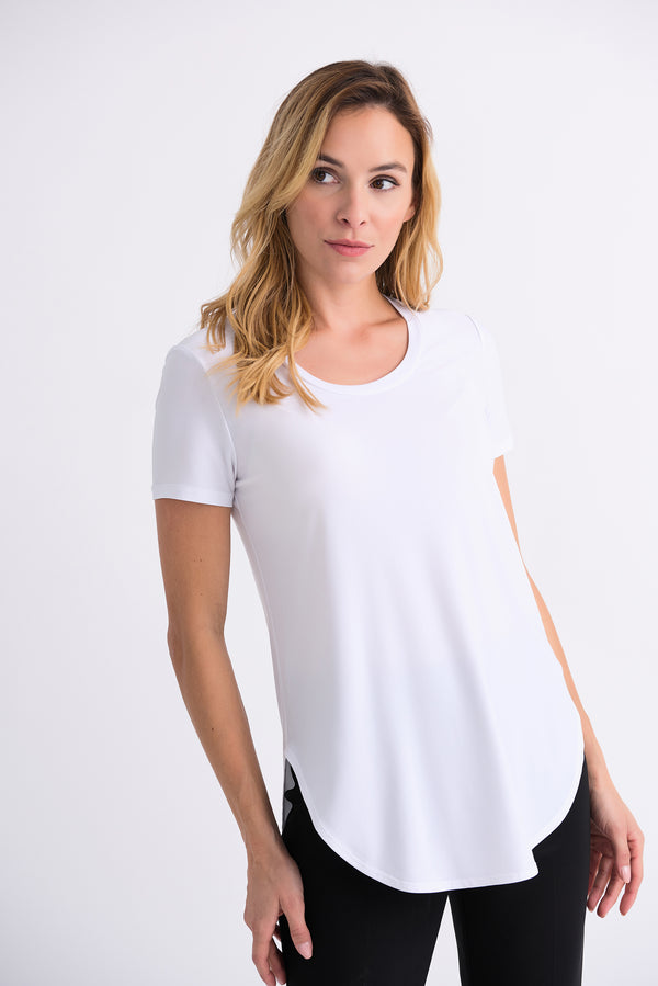 Rounded Hem Tee in Vanilla 183220